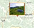 Озеро Неистовое (Несамовите) на склоне горы Туркул