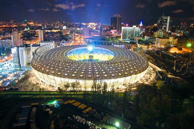 Где находятся стадионы в Киеве?